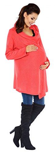 Zeta Ville Maternité - Cardigan grossesse - Gilet Cascade - femme 335c Corail