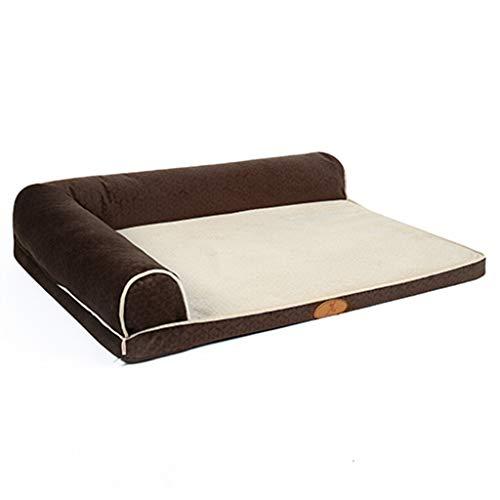 Cuccia cane cuscino per cane memory foam dog bed per cani medi/gatto / animale domestico, cucciolata cucciolo indistruttibile per cani piccoli/grandi, marrone cucce per cani da interno
