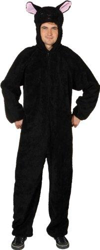 Verkleidung: schwarzer Schaf-Overall, Größe 170 cm/185 cm, ()