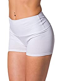 Alkato Damen Sport Shorts mit Hohem Bund Hotpants