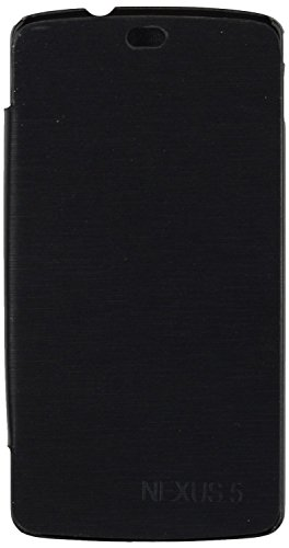 iCandy™ Synthetic Leather Flip Cover for LG Nexus 5 - Black