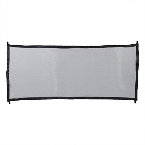 Rejilla de protección Plegable para Perros con Bastones y Ganchos Extensibles para Perros y Gatos, 182 x 80 cm(Negro)