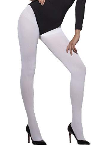 Blickdichte Strumpfhose Weiß, One Size