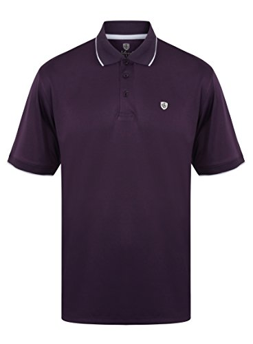 Island Green 2017 Classic Logo Chest Polo Performance Cool Pass Mens Golf Polo Shirt Aubergine XXL - Farbe-block-polo-golf-shirt