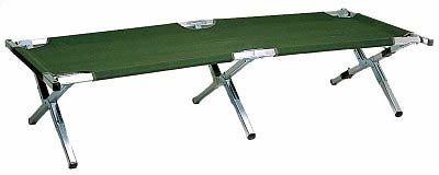 Relags Travelchair Feldbett Campingbett, Schwarz, 195 cm