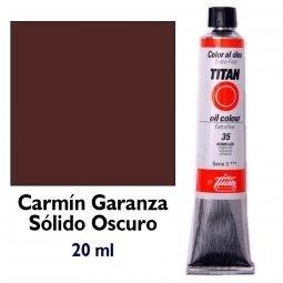 ÓLEO CARMÍN GARANZA SÓLIDO OSCURO TITAN Extrafino 6 - 20ml....