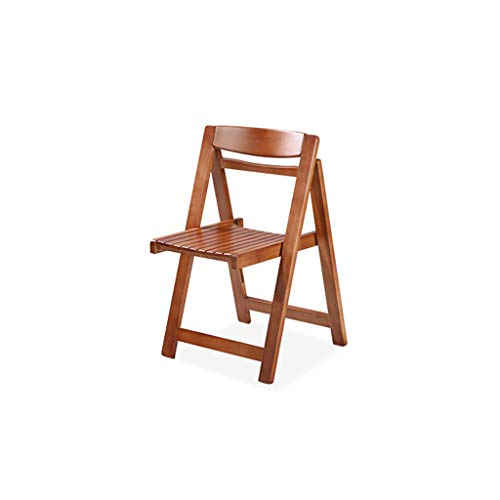 Cherry Küche Stuhl (SFFSYAB Esszimmerstühle-Küche Stühle Wohnzimmer Lounge Stühle Retro Massivholz Beine faltbar (Farbe : Cherry))