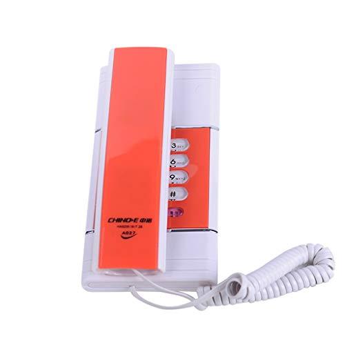 YuanElectronic Teléfono montado en la Pared Extensión para el hogar pequeño Oficina sin batería Fijo Teléfono Fijo Convenientes Mayores Uso Azul, Gris, Verde, Naranja (Color : Orange)