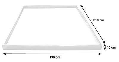 Zelsius® - Stahl Fundament Rahmen, 310 cm x 190 cm, passend zum Aluminium Gewächshaus ASIN: B00LTQK1AI von Zelsius - Du und dein Garten