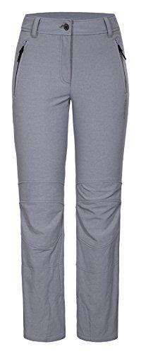 ICEPEAK Mujer Cayla Softshell Pantalón, color gris claro, tamaño 48