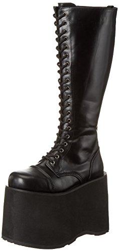 Demonia Mega-602, Bottes hautes classiques non doublées femme Noir - Negro (Negro (Blk Pu))