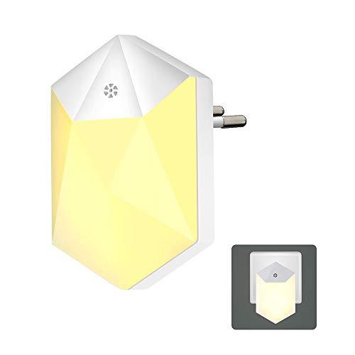 Konesky LED Night Light Plug in Wall Dusk to Dawn Luci notturne con sensore di luminosità Auto ON/Off Lampada da parete per bambini Camera da letto Corridoio Scale da cucina