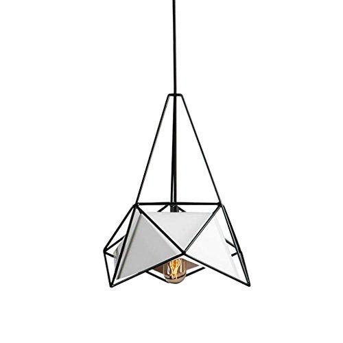 Moderne minimalistischen Stil Kronleuchter, Schmiedeeisen Diamond Shaped Pendelleuchte, Esszimmer Bar Schlafzimmer Wohnzimmer Deckenleuchte (Color : White)