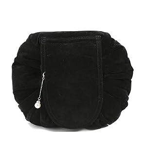 Drawstring Cosmetic Bags Large Capacity Beautician Organizer Toiletry Cosmetic Bags Portable Quick Pack Waterproof Travel Bag (Black 3)