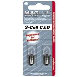 MAG-LITE LOT DE 2 AMPOULES KRYPTON POUR 3C/3D-CELL MAG-LITE LWSA301