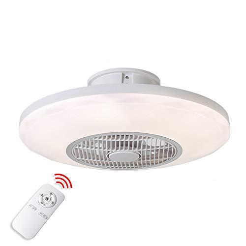 Luz del ventilador de techo,moderna LED Ventilador de techo Lámpara de techo con luz Y mando a distancia...