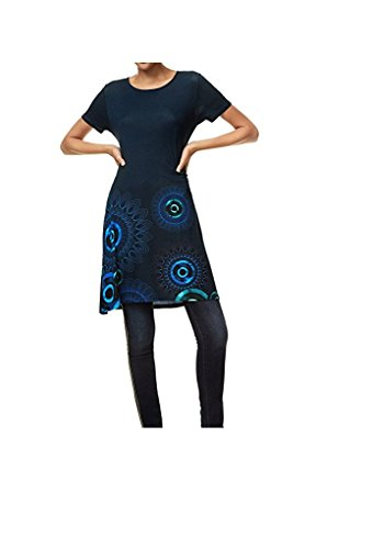 Desigual Damen Kleid, Vest Manga Corta Elk (M)