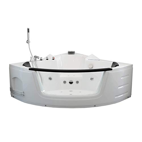Home Deluxe - Whirlpool - Laguna L weiß - kompakt - Maße: 140 x 140 x 65 cm - inkl. vielen Extras