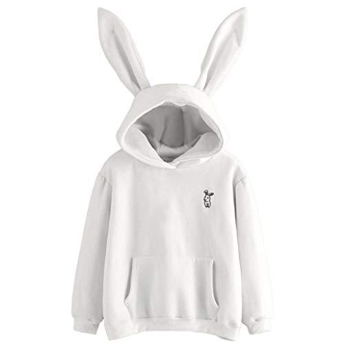 iHENGH Damen Tops, Women Herbst Langä Rmeliges Kaninchen Hoodie Sweatshirt Pullover Tops Bluse