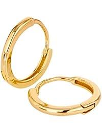 Ohrringe Silber Creolen von BRANDLINGER SCHMUCK. Ohrringe Gold aus 925 Sterling Silber mit 14K Weissgold oder Gold Plattierung. Ohrstecker designed in Deutschland.