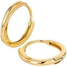 Ohrringe Silber Creolen von BRANDLINGER SCHMUCK. Ohrringe Gold aus 925  Sterling Silber mit 14K Weissgold c7c53cba86