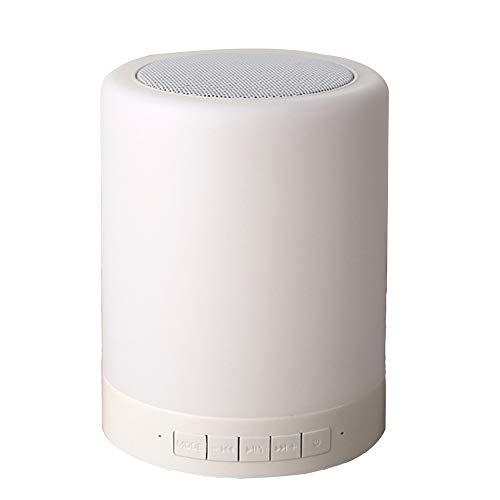 JYMDH Smart Light Lautsprecher, LED Nachtlicht mit Bluetooth-Lautsprecher Dimmbare Touch Nachtlicht USB Ladegerät Stimmungslicht mit 7 Farbwechsel für Kinder