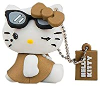 Tribe FD004306 Hello Kitty Pendrive Figure 4 GB Funny USB Flash Drive 2.0 Memory Stick Data Storage, Keyholder Key Ring, Diva, Brown