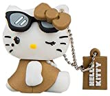 Tribe FD004306 Hello Kitty Pendrive 4 GB Simpatiche Chiavette USB Flash Drive 2.0 Memory Stick Archiviazione Dati, Portachiavi, Diva, Marrone