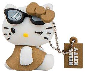 Tribe FD004306 Hello Kitty Pendrive Figur 4 GB Speicherstick Lustig USB Flash Drive 2.0 Memory Stick Datenspeicher, Schlüsselanhänger Kappenhalter, Diva, Braun
