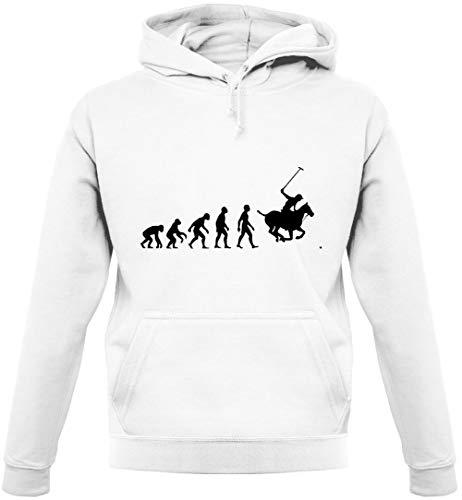 Dressdown Unisex Hoodie/Kapuzenpullover - Evolution of Man - Polo - 9 Farben - Weiß - S