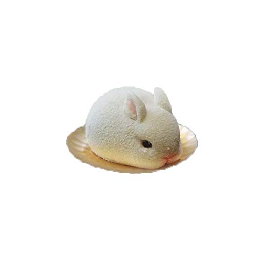 MoonyLI 3D Cute Bunny Silikon Fondantform Kuchenform Schokolade Backen Ausstecher Form, Fondant Kuchen Dekoration, Handarbeit Seife Kerze Ton DIY Making Tool