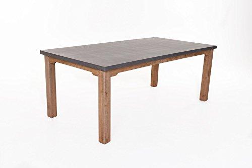 Mailand Tisch Akazie und Fiberzement 73x200x100 cm