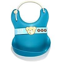 Wasserdichter Silikon-Latz wischt leicht ab! Bequeme weiche Baby-Lätzchen halten Flecken! Verbringen Sie weniger Zeit Reinigung nach Mahlzeiten mit Babys oder Kleinkinder (blau) 2St
