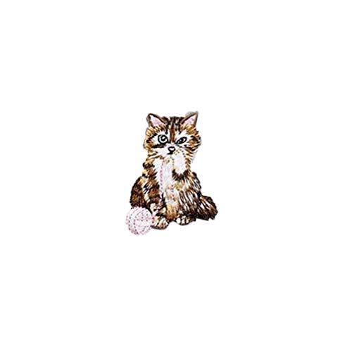 Katze Patch Tuch Cute Kitty Tier Patch Tuch Aufkleber Applique Kleidung Kleid Hut Jeans Nähen Blumen DIY Zubehör, C nützlich und praktisch