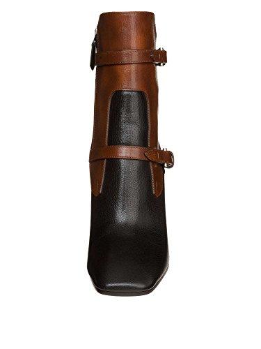 Prada 6052N Tronchetto Stivaletti Donna Boots Women Nero Marrone Nero/Marrone