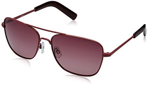 Idee Polarized Square Unisex Sunglasses - (IDS1459PC3SG|56 PINK lens) image