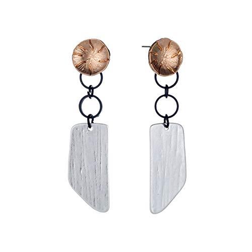Honig Glas Kostüm - Übertrieben Metallic Retro Geometrische Persönlichkeit Damen Ohrringe