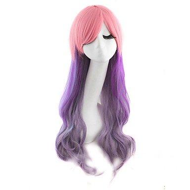 HJL-cheveux de nylon de haute qualit¨¦ boucl¨¦s mode des cheveux couleur fille perruque n¨¦cessaire , multicolor