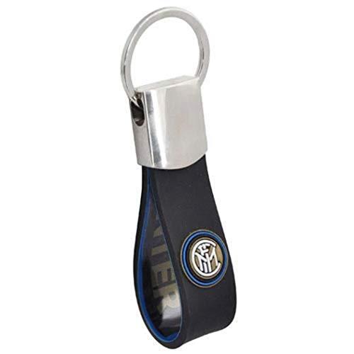 Inter Schlüsselanhänger aus Chenille, bestickt, offizielles Inter-Produkt, Geschenkidee, Fußball