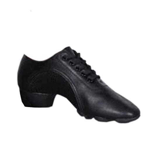 MUCHAO Damen Latein Tanzschuhe Einfarbig Schuhe Gummisohle Moderner Tanz Übungsschuhe -