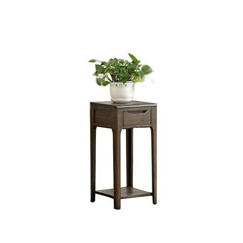 YL Home Blumenregal Aus Massivem Holz, Innenwohnzimmer, Blumentopfständer Mit Schublade A++...
