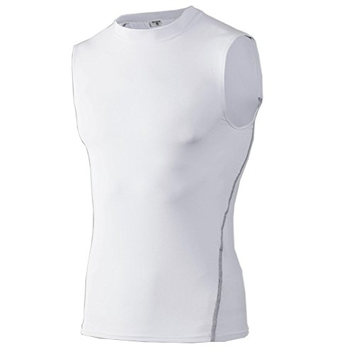 UGLYFROG Herren Kompression Base Layer Shirt Sleeveless Rundhalsausschnitt Fitness Top 1002