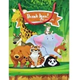 Birthday Popper Jungle Animal Theme Paper Goody Bag (Set of 20, Size: 17.5 x 22.5 x 7.5 cms.) Premium Kids Party Bags, Gift B