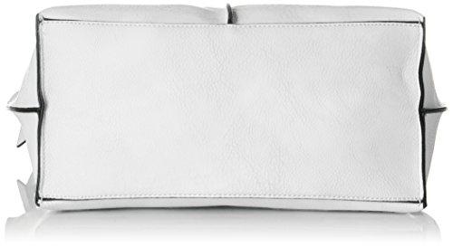 Gabor Damen Arezzo Schultertasche, 22.5x13x35 cm Weiß (Weiß)