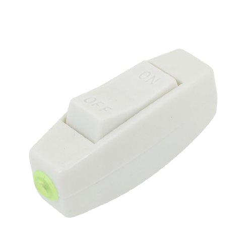 Preisvergleich Produktbild Unterkunft On/Off Kunststoff weiß ONLINE Kordel Schalter 250VAC 3A
