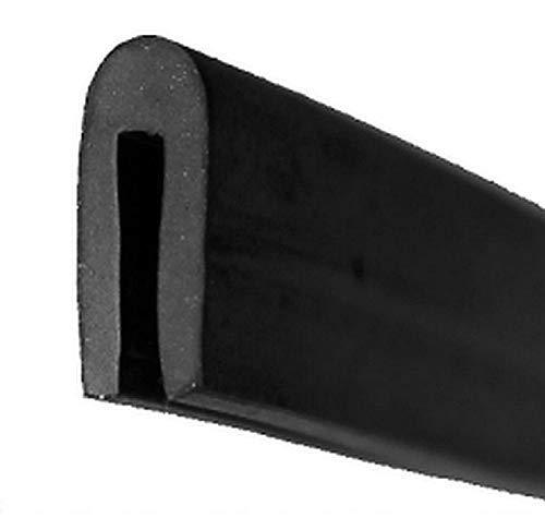 EUTRAS Fassungsprofil FP3010 Kantenschutz Dichtungsgummi – Spaltmaß 2,0 mm – schwarz – 3 m
