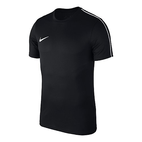 Nike park18, sport shirt bambino, nero (black white 010), large