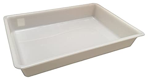 12 Litre (L 535 x W 380 x H 85mm) - White Shallow Nesting Food Grade Storage Tray Commercial Display Box (2)