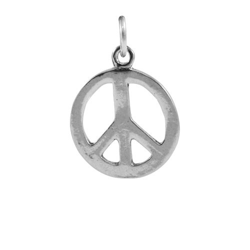 TheCharmWorks Sterling Silber Friedenssymbol Charmanhänger | Peace Symbol Charm -