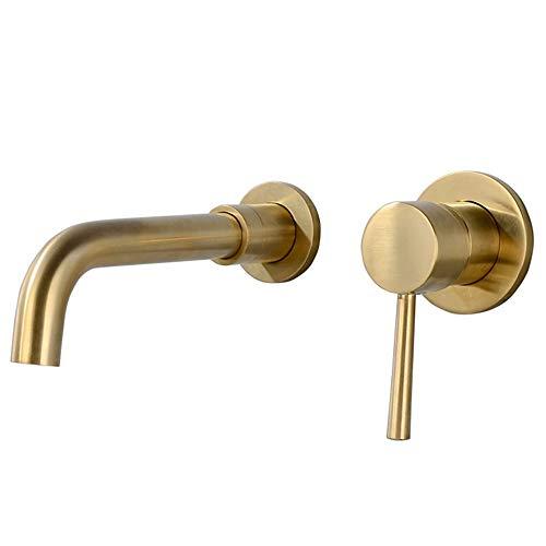 jruia Oro rasante–Grifo de 2Orificios de lavabo baño grifo 360° giratoria grifo...